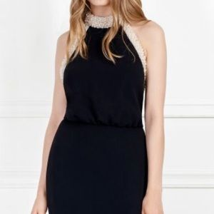 Rachel Zoe Pearl-Embellished Stretch-Crepe Gown
